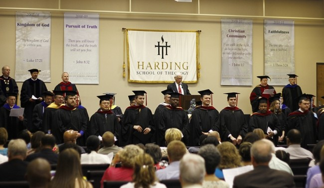 "The audience sings ""The Lord Bless You and Keep You"" to our graduates."